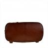 Zgrabny plecak skórzany lekki brąz koniak