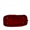 Duża torba skóra zamszowa bordowa włoska