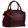 Bardzo duża torebka skórzana bordowa shopper bag XXL