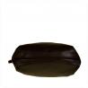 Duża torba skórzana shopper bag czarno złota