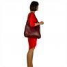 Torebko plecak duży skórzany bordo buraczek