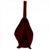 Duża torba skóra zamszowa bordowa włoska płaszczka