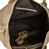 Bardzo duża torba skórzana shopper bag XXL taupe brązowa