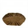 Lekki zamszowy worek z podszewką taupe
