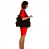 Duża torba skóra zamszowa czarna włoska płaszczka