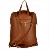 Plecak skórzany brązowy A4 lekki