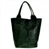 Bardzo elegancka torebka kuferek kaliowa skórzana