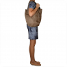 Torebka shopper worek zamszowy taupe