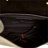 Czarny kuferek skórzany wzór aligatora