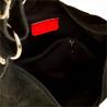 Lekki zamszowy worek z podszewką czarny