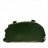Skórzany plecak zielony z klapą