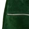 Lekki zamszowy worek z podszewką zielona