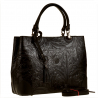 Skórzana torebka shopper kuferek L czarna
