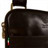 Mała skórzana męska listonoszka czarna