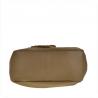 Skórzana torba na ramię taupe z ćwiekami