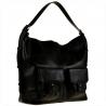 Bardzo duża torba skórzana czarna włoska XXL