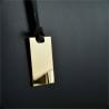 Granatowa elegancka skórzana aktówko-torebka rozmiar XL