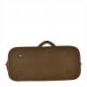 Duża torba skóra licowa taupe włoska XL