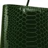 Vezze-torebka zielona skórzana L wzór wężowej skóry