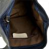 Zgrabny granatowy plecak skórzany włoski VERA PELLE