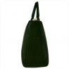 Elegancka skórzanna torebka kuferek zielona