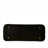 Czarna elegancka skórzana aktówko-torebka rozmiar XL