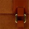 Nowy wzór zamszowa torebka listonoszka duża camel L