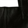 Duża torba skóra licowa czarna włoska XL