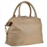 Bardzo duża torebka skórzana beżowa shopper bag XXL