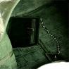 Torebka worek skórzana shopper zielona wzór aligatora
