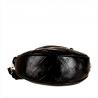 Skórzana listonoszka czarna wzór aligatora VEZZE