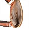 Mała skórzana męska listonoszka brązowa camel