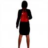 Zgrabny czerwony plecak skóra naturalna