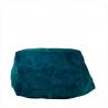 Torba worek zamszowy ciemno niebieski z podszewką na zamek skóra naturalna