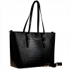 Torebka shopper czarna wzór aligatora skóra ekologiczna