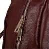 Bordowy plecak damski ze skóry naturalnej