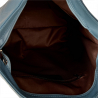 Zgrabny plecak skóra naturalna kolor niebieski dżins