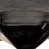 Włoska czarna torebka listonoszka ze skóry naturalnej