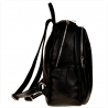 Duży plecak czarny włoski VEZZE skóra naturalna
