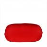 Lekka torebka shopper bag czerwona skóra naturalna