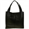 Duża torebka włoska shopper bag czarna skóra naturalna