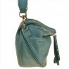 Lekka listonoszka z szerokim paskiem niebieski dżins skóra naturalna