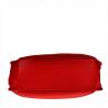 Duża torebka shopper czerwona skóra naturalna włoska