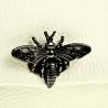 Vezze listonoszka - nerka skóra naturalna biała z muchą