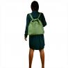 Duży torebko plecak zielony miętowy skóra naturalna