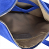 torebka listonoszka skóra naturalna zamszowa niebieska szafirowa
