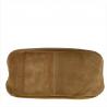 Torebka typu worek taupe skóra naturalna zamszowa ze skórą licową