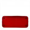 Skórzana torebka kuferek czerwona z kosmetyczką VEZZE wzór wężowej skóry