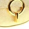 Włoska złota torebka listonoszka szeroki pasek skóra naturalna