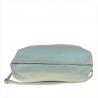 Torba shopper bag niebiesko srebrna skóra naturalna